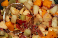 Fruit Salad. Fresh Fruit Salad in a bowl Stock Image