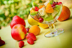 Fruit salad with fresh fruit Royalty Free Stock Photography