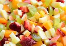 Fruit salad. A fresh summer fruit salad Royalty Free Stock Photo