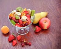 Fruit salad with fruit resh fruit Royalty Free Stock Photography