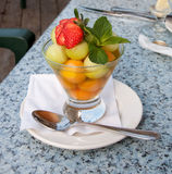 Fruit salad in a glass Stock Photo