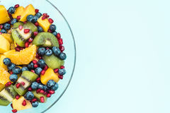 Fruit salad in glass bowl Royalty Free Stock Images
