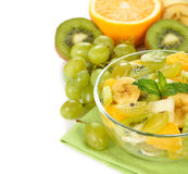 Fruit salad with grapes Stock Image
