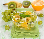 Fruit salad with grapes Royalty Free Stock Image