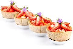 Fruit Salad In Half Melons Royalty Free Stock Photography