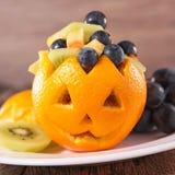 Fruit salad for halloween Stock Photos