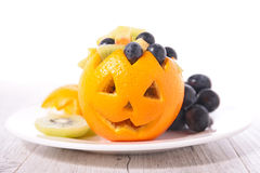 Fruit salad for halloween Royalty Free Stock Image