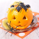 Fruit salad for halloween Royalty Free Stock Photo