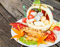 Fruit salad. For healthy in Thailand Stock Photography