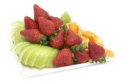 Fruit salad and ice cream Royalty Free Stock Photography