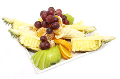 Fruit salad and ice cream Royalty Free Stock Images