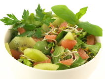 Fruit salad, isolated, closeup Stock Images
