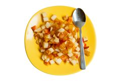 Fruit salad isolated on white Royalty Free Stock Photography