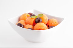 Fruit salad isolated Royalty Free Stock Images