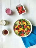 Fruit Salad. Fruit juice on the white background Royalty Free Stock Images