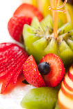 Fruit salad, macro Stock Images