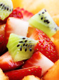 Fruit salad macro Royalty Free Stock Images