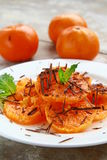 Fruit salad with mandarin oranges Stock Image