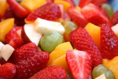 Fruit Salad Mix. Fresh chopped fruit in a salad mix stock images