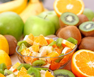 Fruit salad. Mix of different fruits Royalty Free Stock Images