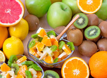 Fruit salad. Mix of different fruits Royalty Free Stock Photo