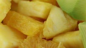 Fruit salad mixed fruit. Bio stock footage