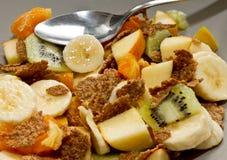 Fruit salad n bran Royalty Free Stock Images