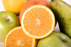 Fruit salad with orange Royalty Free Stock Image