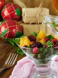 Fruit salad with orange pieces Royalty Free Stock Images