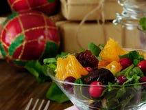 Fruit salad with orange pieces Stock Image