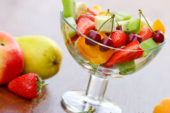 Fruit salad of organic fruit Stock Image