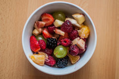 Fruit Salad. A picture of a bowl full of fresh fruit salad Stock Images