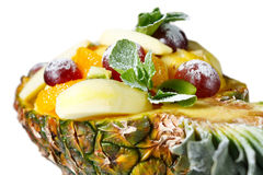 Fruit salad in pineapple Royalty Free Stock Photo