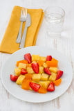 Fruit salad on the plate Stock Photo