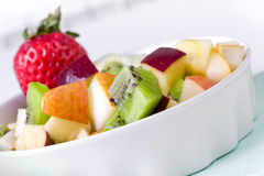 Fruit salad in  plate Royalty Free Stock Images