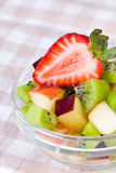 Fruit salad in plate Royalty Free Stock Image