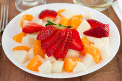 Fruit salad on the plate Royalty Free Stock Photography