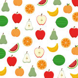 Fruit salad plate  icon Stock Photos