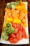 Fruit salad platter Stock Image