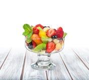 Fruit salad in a ramekin royalty free stock image