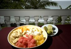 Fruit salad at resort Royalty Free Stock Images