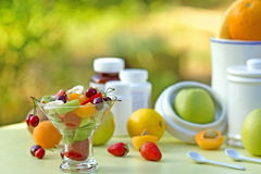 Fruit salad is rich with vitamins Royalty Free Stock Photography