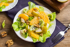 Fruit salad with seeds and nuts Royalty Free Stock Photos