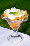 Fruit salad served on a cup Royalty Free Stock Photos