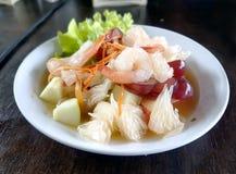 Fruit salad with shrimp. Royalty Free Stock Image