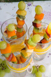 Fruit salad skewers Royalty Free Stock Photos
