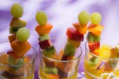 Fruit salad skewers Royalty Free Stock Photo