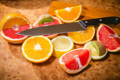 Fruit salad, sliced fruit Royalty Free Stock Images