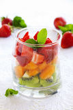 Fruit salad of strawberries, Royalty Free Stock Photo