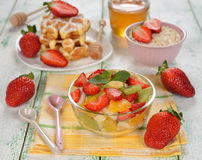 Fruit salad with strawberries Royalty Free Stock Images